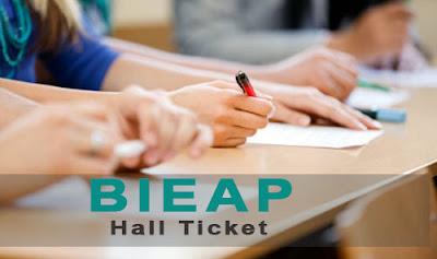 bieap hall ticket 2018 - bieap.cgg.gov.in 2018 hall tickets