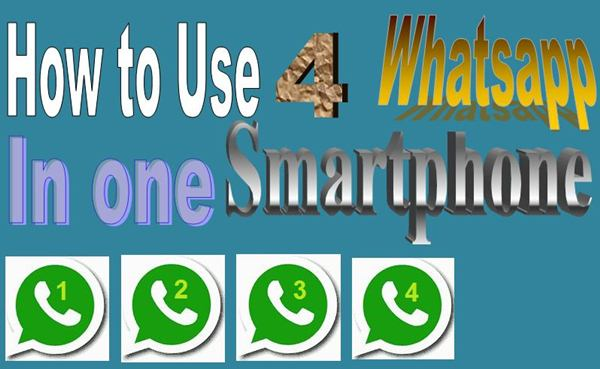 1 Smartphone me 4 WHATSAPP kaise Use Kare (How To Guide)