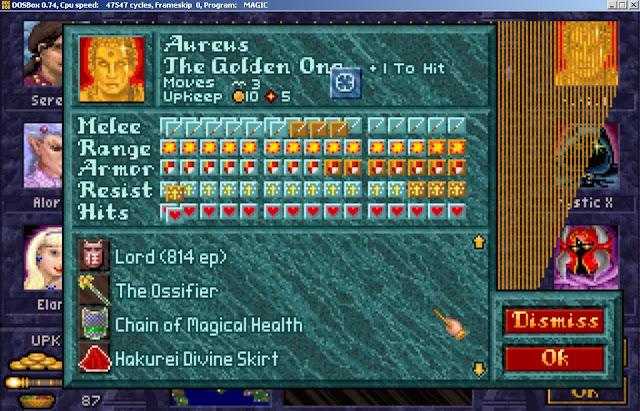 Aureus Hero from Master of Magic game screenshot