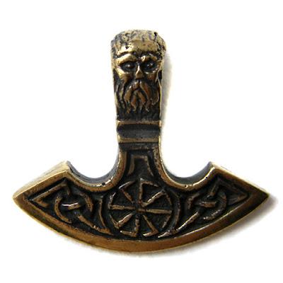 купить подвеска оберег секира перуна цена фото купить бронзовые славянские обереги