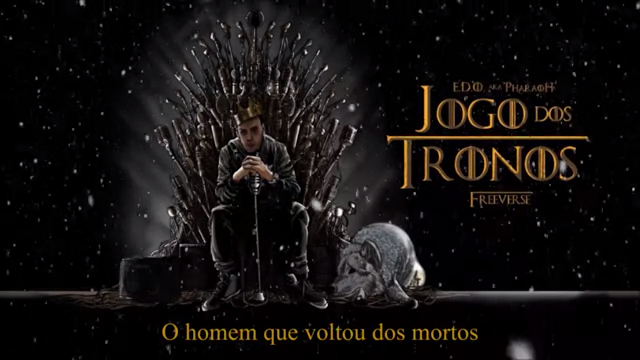 """E.D.O. aka PharaoH lançou o som """"Jogo Dos Tronos"""", inspirado na serie """"Game of Thrones""""."""
