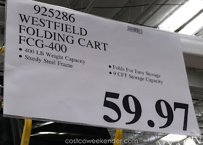 Deal for the Westfield Fold-a-Cart Folding Cart FCG-400 at Costco