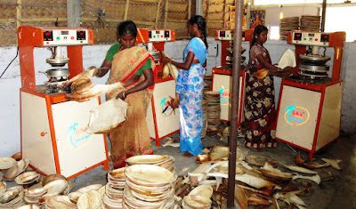 SEVAI, a Trichy based NGO Promotes Arecanut Palm Leaf Plates production as eco-friendly disposable plates.