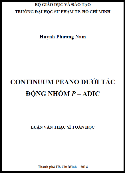 Continuum Peano dưới tác động nhóm P – Adic