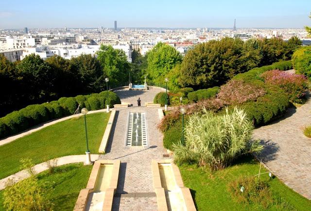 parc de belleville, parijse parken, mooiste panorama over parijs