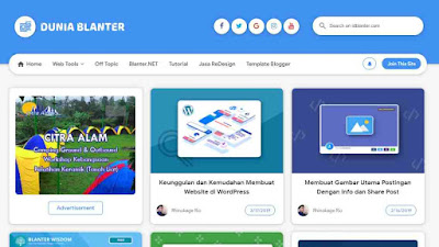 Blanter penyedia template blog gratis