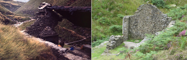 Ashop Clough shooting cabin: 1975 and 2011