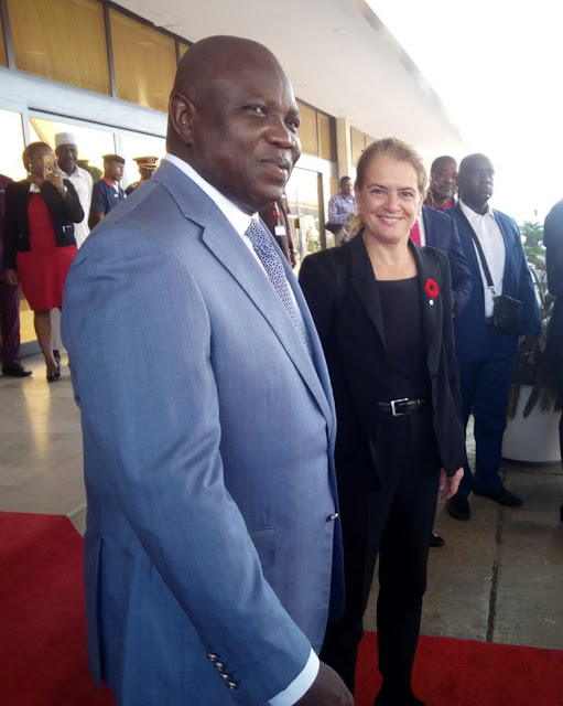 Ms Julie Payette and Gov. Akinwunmi Ambode