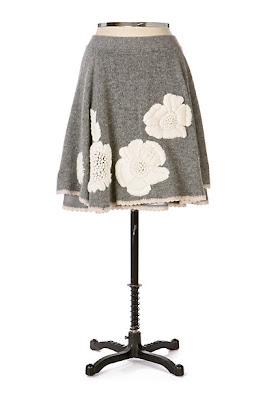 Anthropologie Kittatinny Sweater Skirt