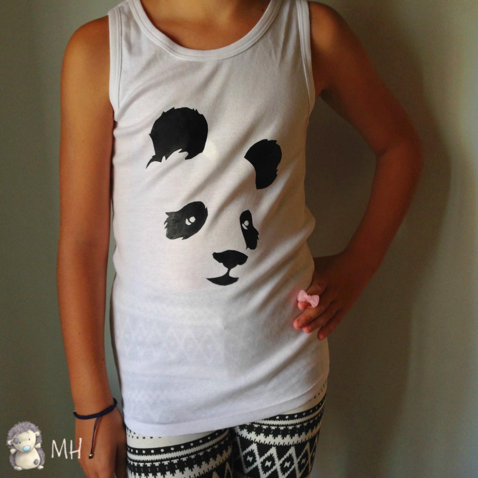 camiseta oso panda