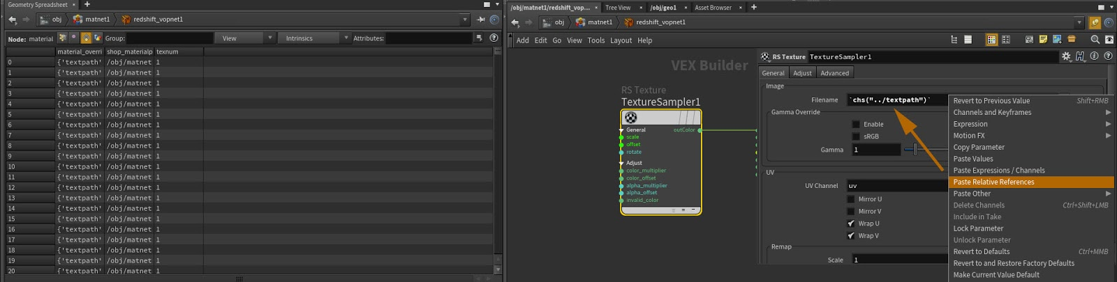 RedShift Material Override | opinputpath