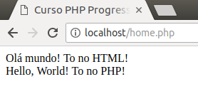 Como criar o Hello, world em PHP