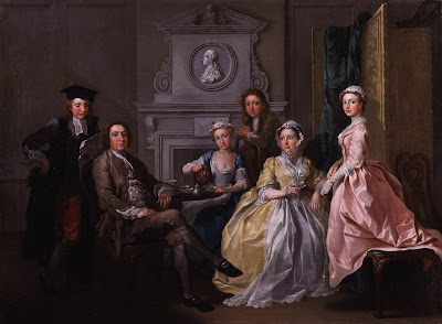 Jonathan Tyers and his family, by Francis Hayman, c. 1740
