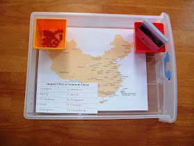 Largest Cities or Towns in China activity and free printable