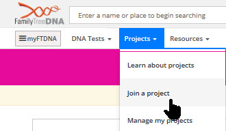 join Family tree DNA projects