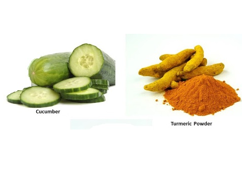 Cucumber and Turmeric Powder for Skin Care: Spotless Elbow, Knee and Ankle
