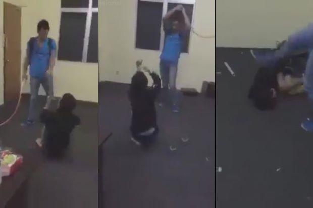 Video Lelaki Belasah Pekerja Yang Mencuri Jadi Viral