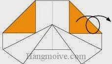Bước 6: Lật mặt đằng sau tờ giấy ra đằng trước.