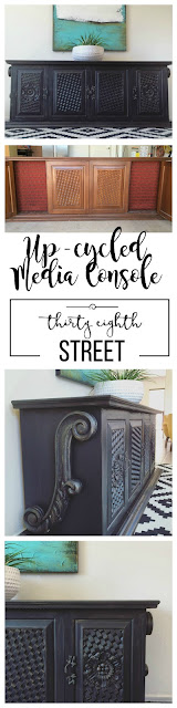 tv cabinet, tv console, media console, media cabinet, entertainment center, refinished cabinet, how to refinish a media console, media console inspiration, media console ideas