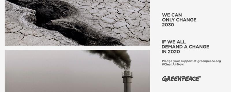 Greenpeace pide mantener el efecto COVID19 para frenar el cambio climático