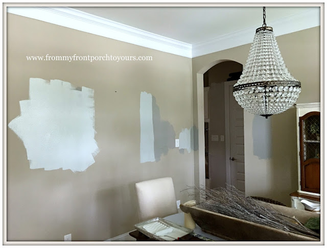 French Country Farmhouse Dining Room-New Paint-From My Front Porch To Yours