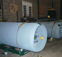 Water treatment plant chlorine tanks