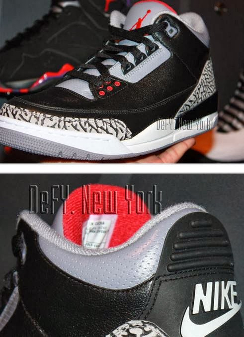 1b393f230750ab Here is new images via defy newyork of the Nike Air Jordan 3 III Retro  88  Black Cement Grey Sneaker which is rumored to release on black Friday