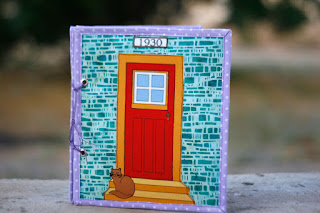 Fabric dollhouse book by TomToy