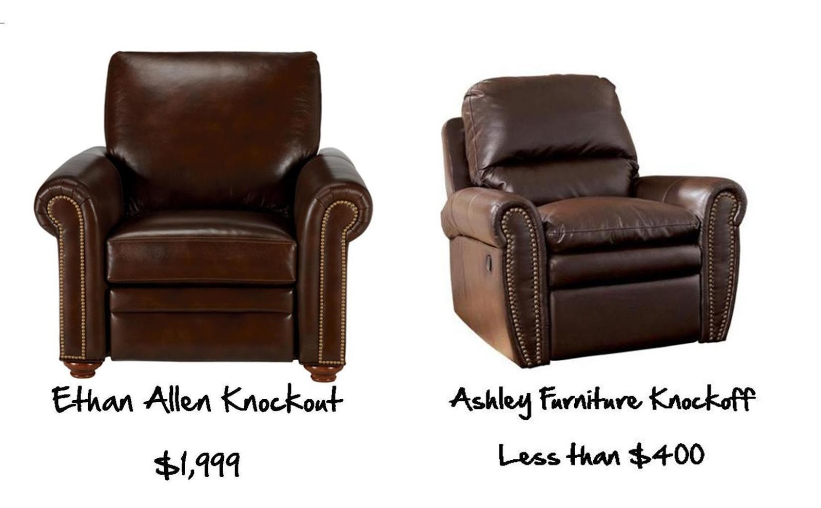 recliner vs chair with ottoman straight back chairs office domesticated diva: home sweet home: knockout knockoff (interior decorating on a budget)