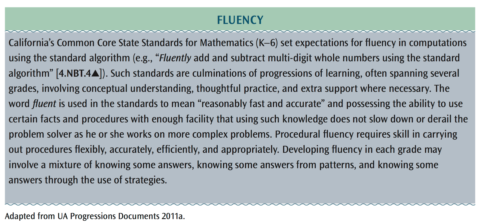 The Mother of Fluency | Elementary Math Addict