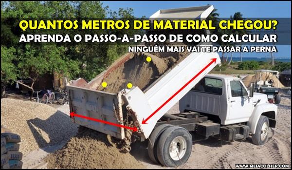 calculo do material de construção no caminhão