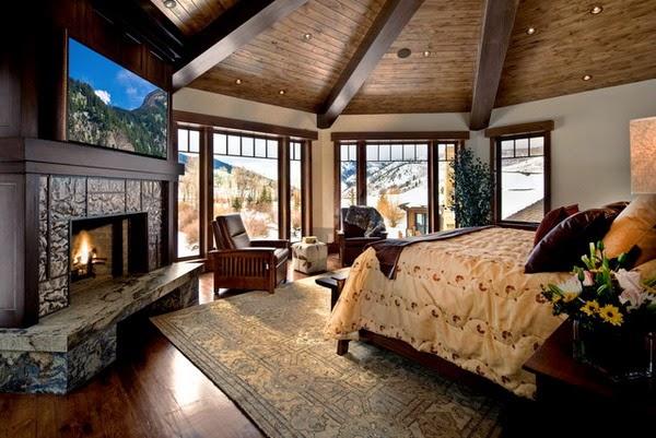 habitaciones con chimenea dormitorios colores y estilos