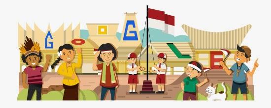 Google Doodle Untuk Hari Kemerdekaan Republik Indonesia ke 69 Tahun 2014