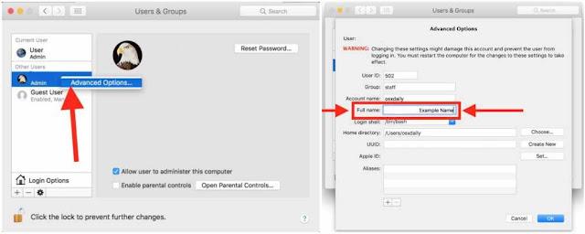 Cara Merubah Nama Lengkap Mac