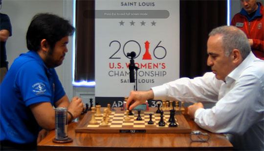Échecs : Échecs : Kasparov reprend son coup de cavalier en b4