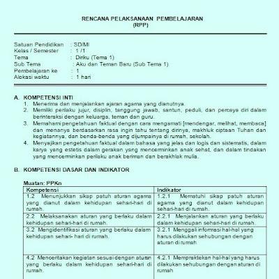 edisi revisi yang terbaru harus memunculkan dan menginsert  RPP Kelas 1 Kurikulum 2013 Revisi Integrasi PPK