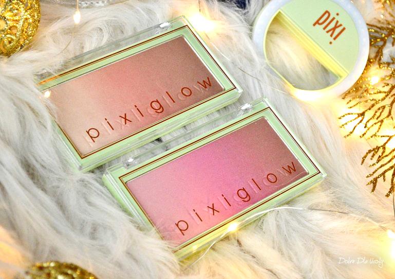 Pixi By Petra PixiGlow Cake - rozświetlacze Pink Champagne Glow oraz Gilded Bare Glow recenzja