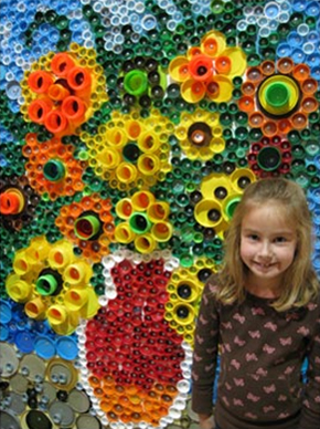 Bottle cap art ideas for children art craft projects for Bottle top art projects