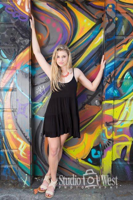 girl graffiti senior portraits