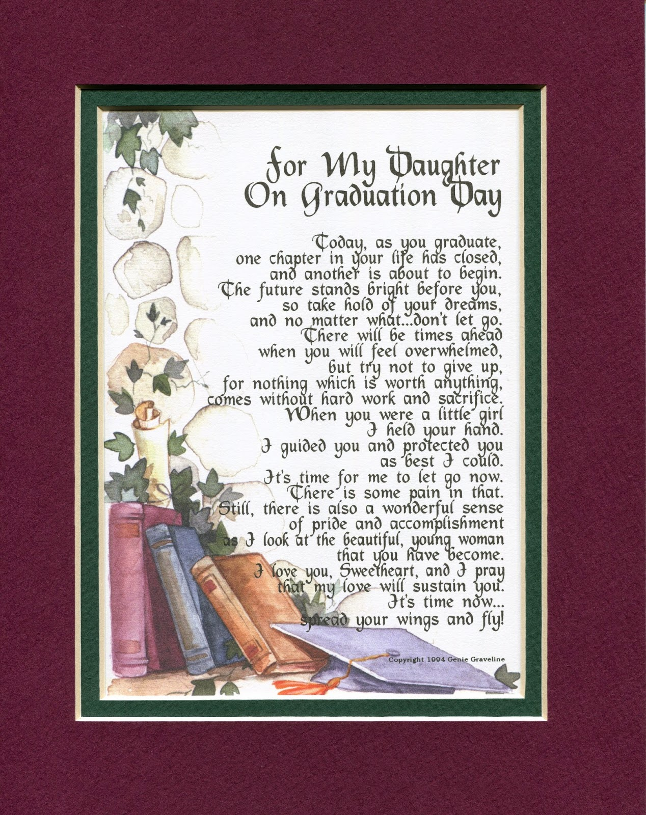 Genie's Poems: For My Daughter On Graduation Day