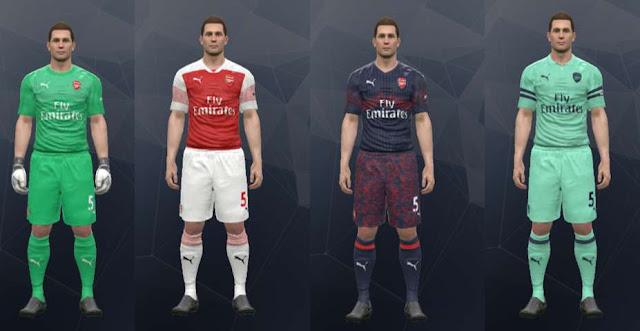 Arsenal Kits 2018-2019 PES 2017