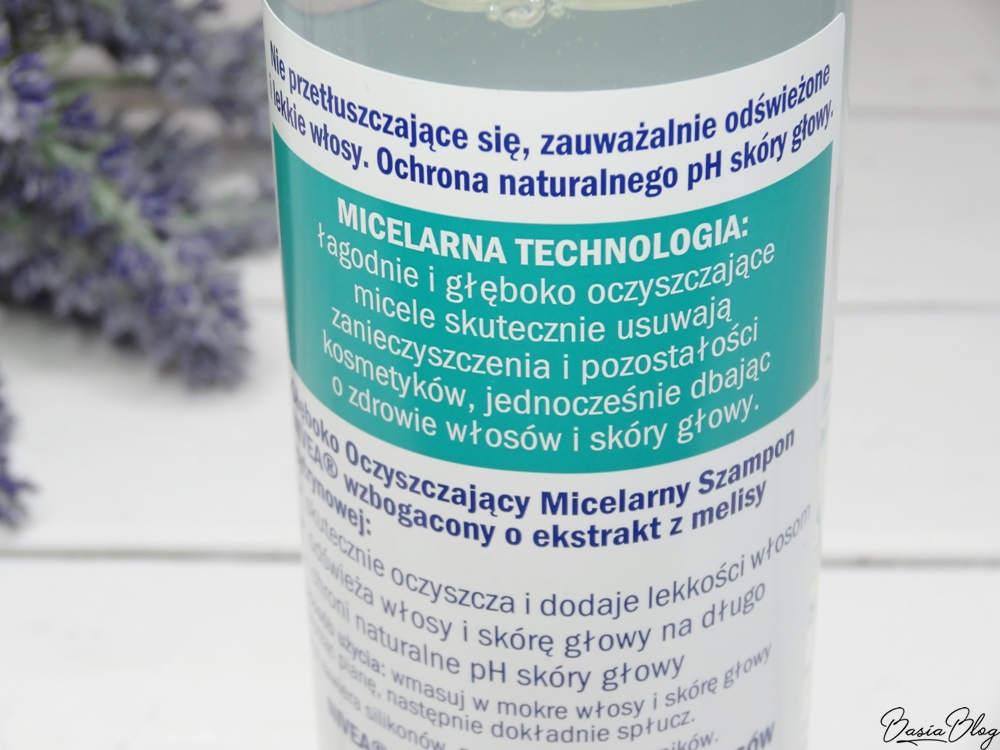 Nivea, micelarny szampon oczyszczający, szampon do przetłuszczających się włosów, szampon przedłużający świeżość włosów, szampon bez silikonów i barwników,