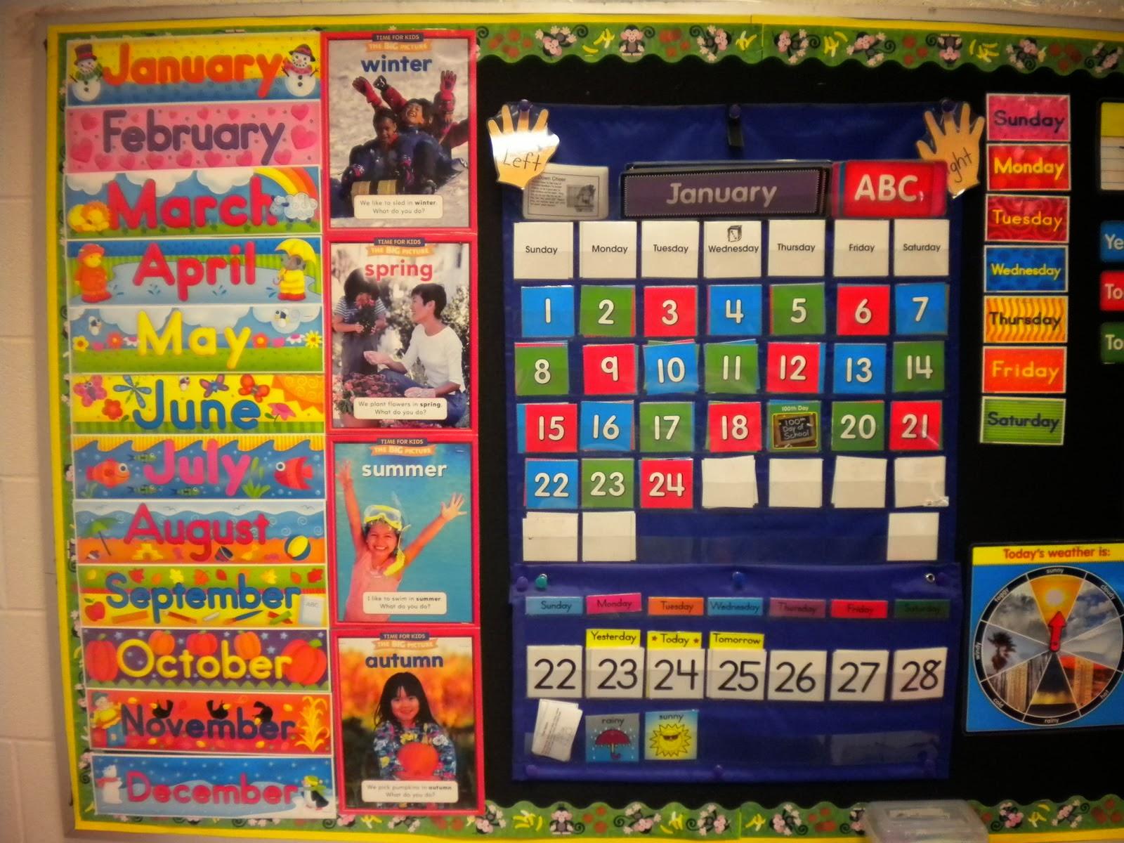 Classroom Calendar Days Of The Year : أفكار لتزين الكلاس بلوحات تعليميه وفنيه بالصور