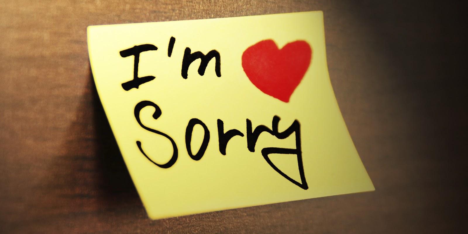 Sorry sms to my girlfriend