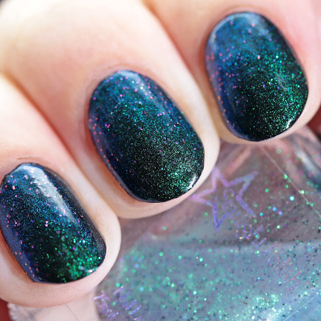 Starlight Polish Unicorn Wishes over black