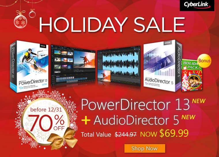 PowerDirector Holiday Sale
