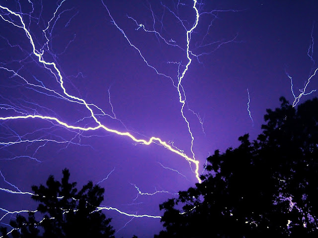 Lightning, night, storm, thunder, weather, electricity, nature, sky, power, energy