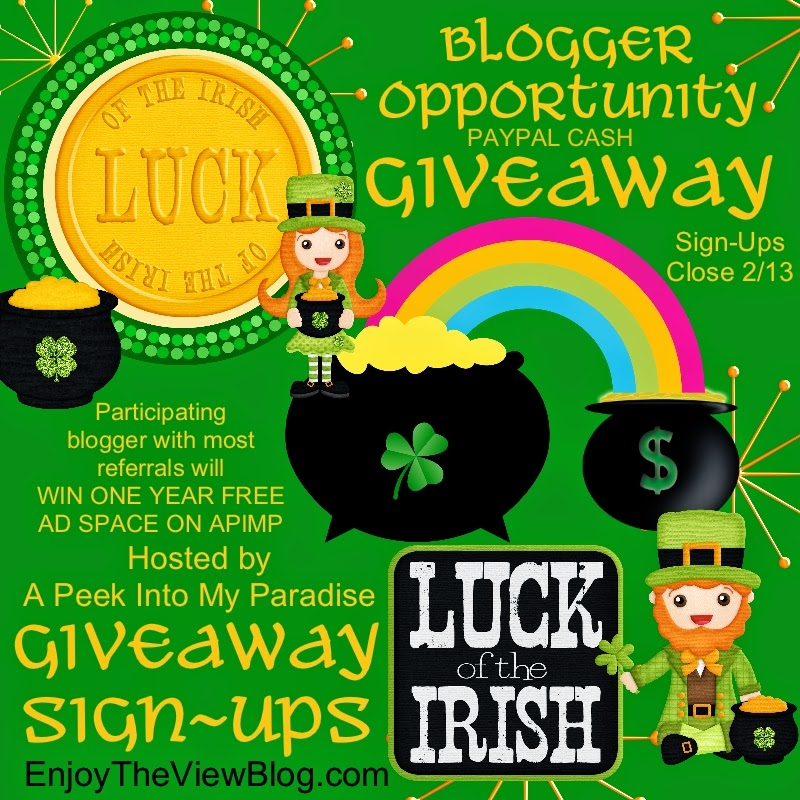 Blogger opp - sign up to be part of the Luck of the Irish Cash Giveaway!