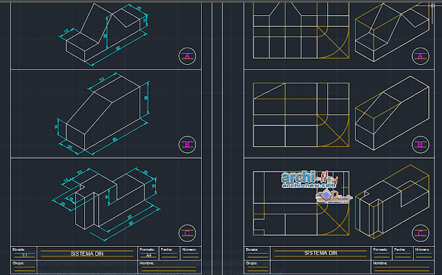 Disney stem views in AutoCAD