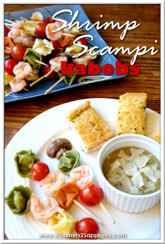 Easy make-ahead Shrimp Scampi Kabobs dinner #EasyPrepMeals #shop #cbias
